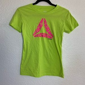 "Reebok: Bright Green T-Shirt ""Work Out Mode"" Small"